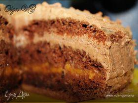 """Торт """"Вкуснотень с персиками"""""""