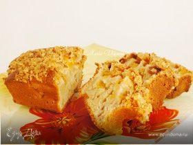 Персиковый хлеб со штройзелем из овсяных хлопьев