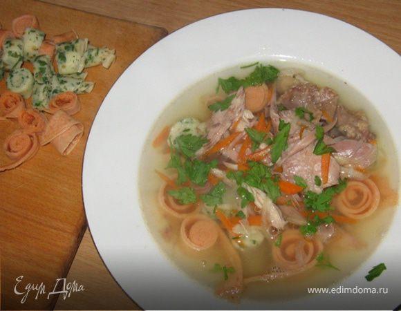 Суп «Панадель» (бульон с блинчиками)