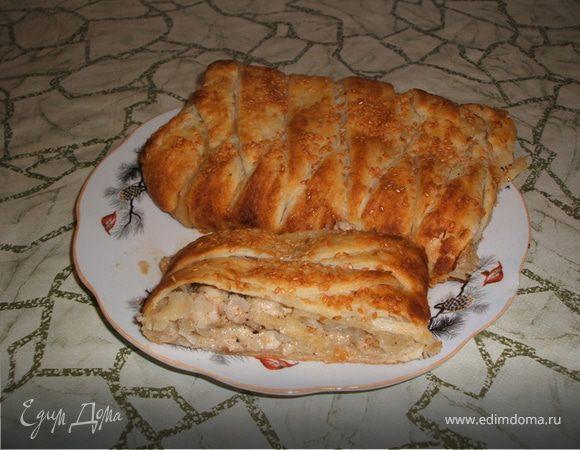 Кулебяка рецепт с курицей с фото — pic 7