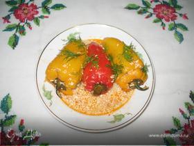 Перец, фаршированный гречкой и овощами