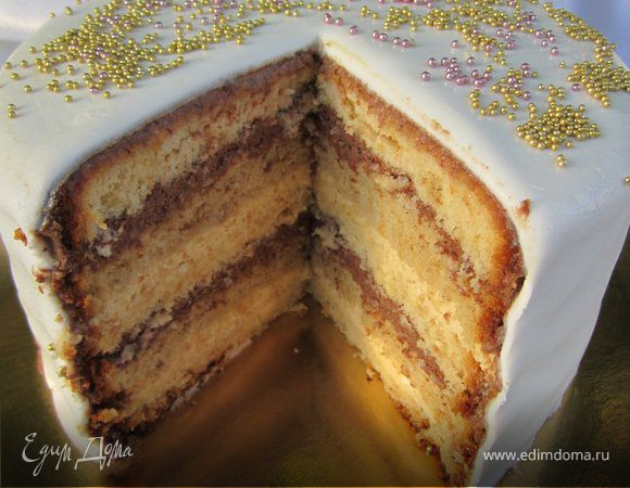 """Торт """"Персиково-шоколадный"""""""