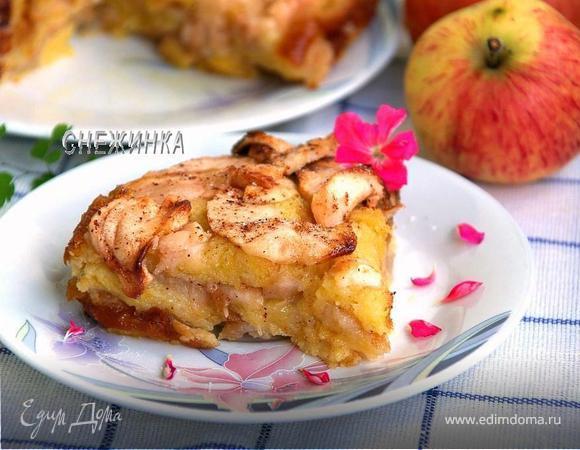 Яблочный пирог-пудинг