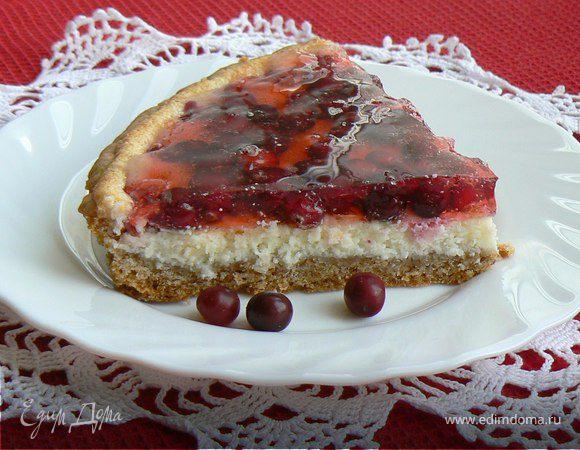 Клюквенный тарт с творожным сыром