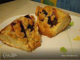 Обсыпной сливовый пирог
