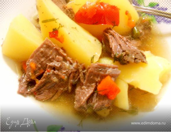 простое и вкусное рагу с мясом гуся