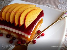 """Персиково-брусничный десерт. ГОТОВИМ ВМЕСТЕ С """"HOMEQUEEN CORPORATION"""""""