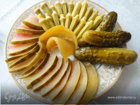 Маринованная бамия и арбуз