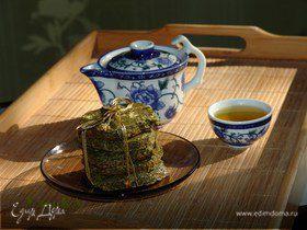Печенье из зеленого чая с белым шоколадом