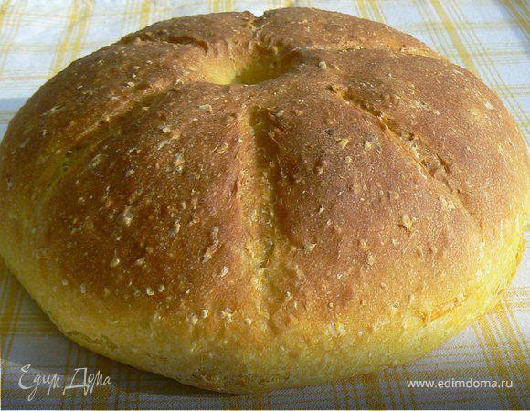 Тыквенный хлеб с кукурузными хлопьями