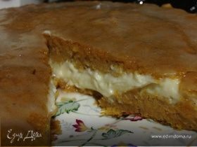 Тыквенный пирог c кремом маскарпоне (Pumpkin Pie with mascarpone filling)