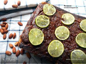 Лаймово - миндальный пирог