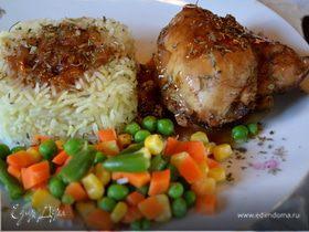 Курица с медово-пивным соусом