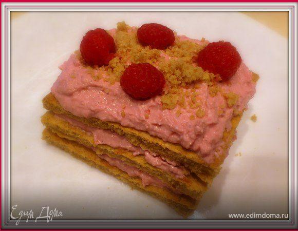 Малиновое пирожное
