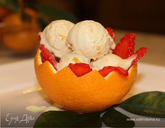 Шоколадно-апельсиновое мороженое-мусс с медом