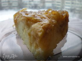 Перевернутый яблочный пирог с карамелизированным луком от Эктора Хименеса Браво