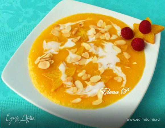 Тайский десерт (карамбола в манго-апельсиновом соусе)