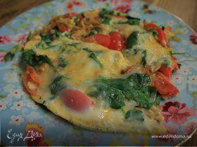 Тортилья с овощами и сыром