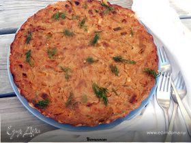 Тарт с карамелизованным луком и рикоттой