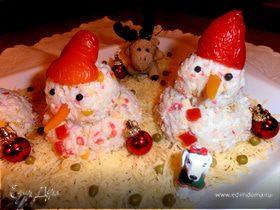 """Снеговики наступают! (пародия на """"крабовый"""" салат)"""