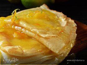 Нежные блинчики с апельсиново-ванильным соусом