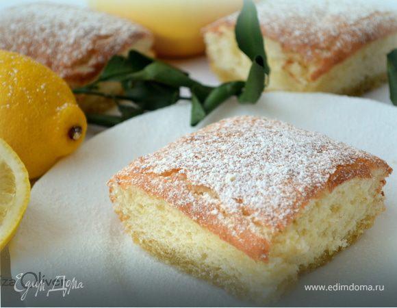 Двухслойное лимонное пирожное