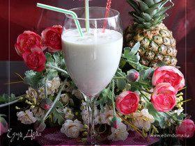 Ласси из ананаса с имбирным соком и кокосовым молоком