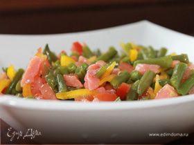 Фасолевый салат с лососем
