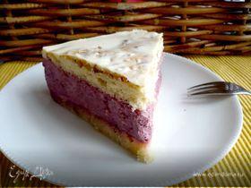 Торт с муссом на агартине «Пятна на солнце»