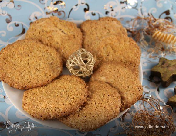 Овсяное печенье на белках с кокосом и ванилью