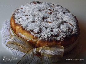 Торт из роз с заварным кремом и кусочками шоколада (Torta di rose con crema pasticcera e gocce di cioccolato)