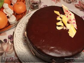 """Торт """"малиново-вишневый трюфель"""""""