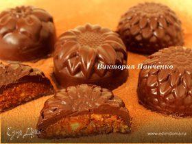Шоколадные конфеты с миндалем и апельсином