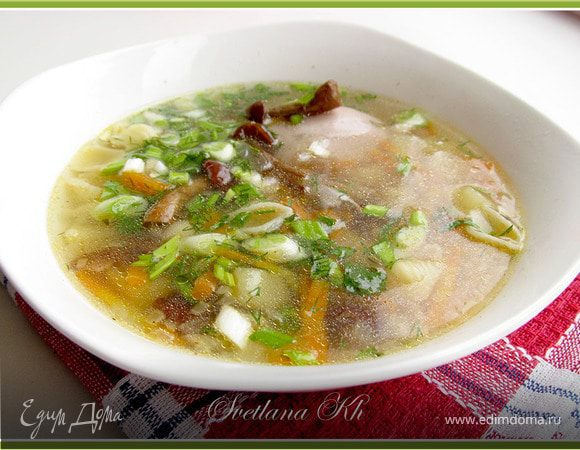 Суп с мясом и картошкой и луком