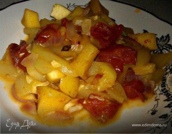 Гарнир из кабачков с яблоками