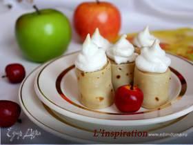 """Блинные роллы с яблоками под """"Безе"""""""