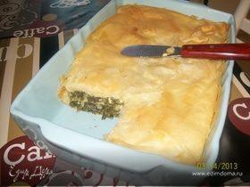 Греческий пирог со шпинатом и сыром Фета (Spanokopita)