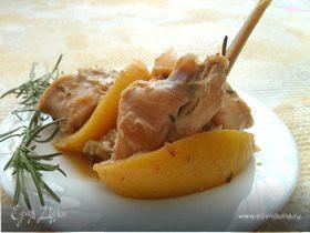 Жаркое из кролика с лимоном
