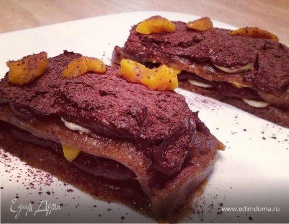 Шоколадное пирожное с кремом из авокадо