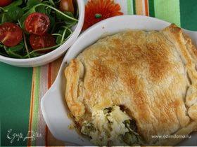 Итальянский пирог со спаржей и тремя видами сыра