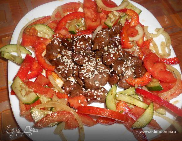 Микс из морепродуктов в соусе «Терияки» » Рецепты
