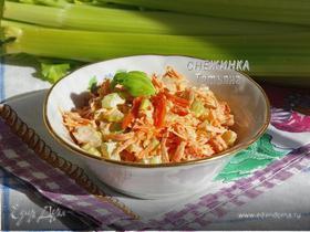 Салат с сельдереем, морковью и курагой