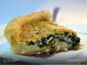 Открытый пирог со шпинатом от Поля Бокюза