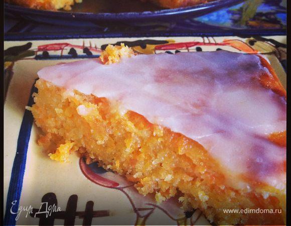 Очаровательный морковный пирог с лаймовой глазурью от Джейми Оливера (A rather pleasing carrot cake with lime icing)