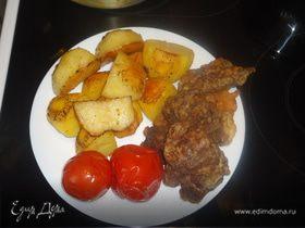 Запеченная картошка с мясом