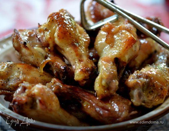 Куриные крылышки с коричневым маслом и медом