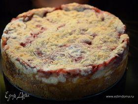 Клубничный кекс с со сливочным сыром