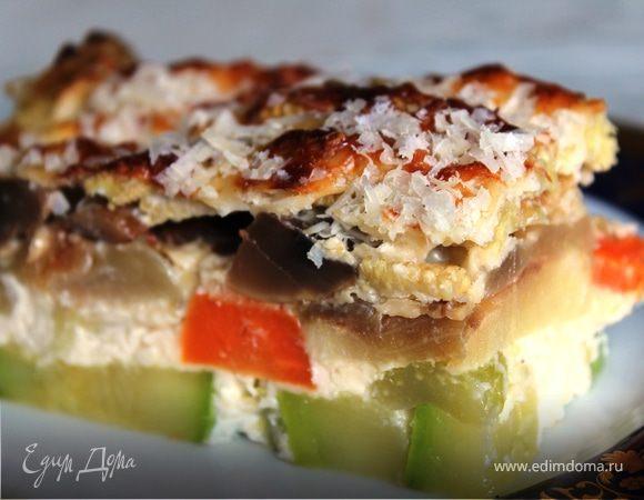 Соте-запеканка из овощей с грибами