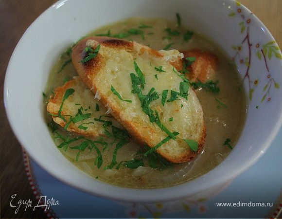 Луковый суп на сидре
