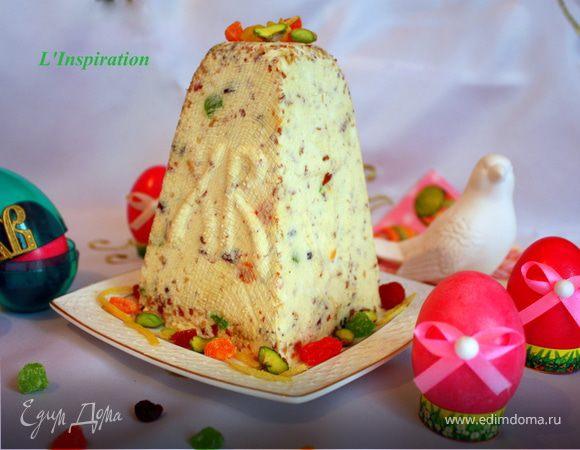 Нежнейшая ванильная Пасха с миндалем и цукатами